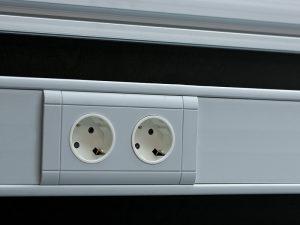 Integrierte Steckdosen